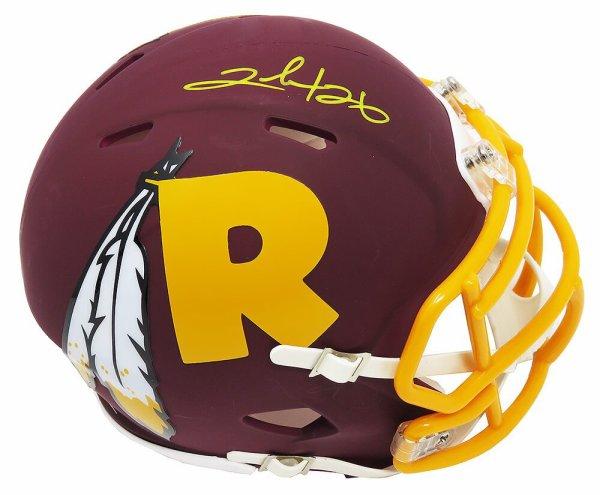 Clinton Portis Autographed Signed Washington Redskins AMP Alternate Series Riddell Speed Mini Helmet