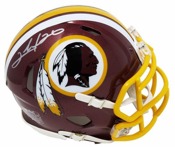 Clinton Portis Autographed Signed Washington Redskins Riddell Speed Mini Helmet