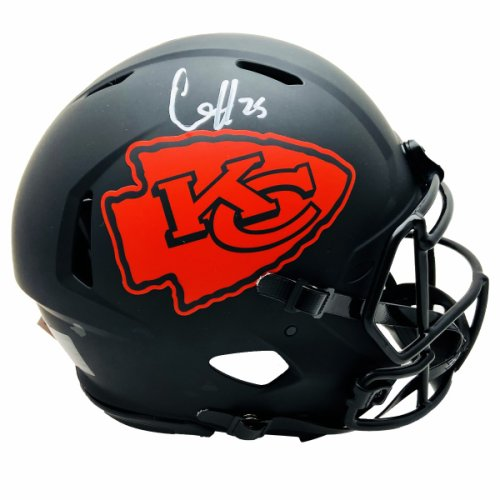 JSA Witness Patrick Mahomes Autographed Kansas City Chiefs Super Bowl LIV Full Size Replica Speed Helmet