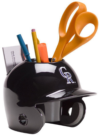 Colorado Rockies MLB Baseball Schutt Mini Batting Helmet Desk Caddy