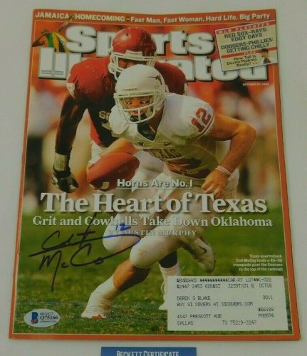 Colt Mccoy Autographed Signed Sports Illustrated Cover 10.20.08 NCAA Texas Beckett