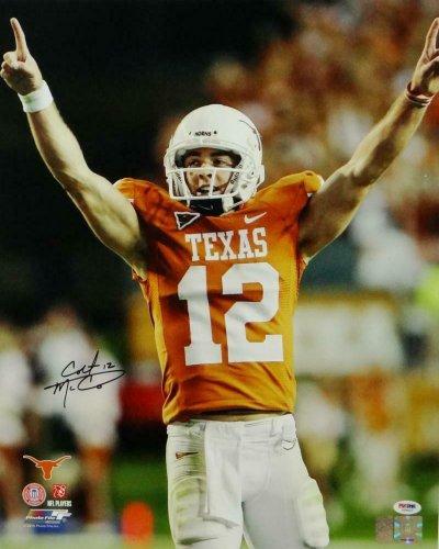 Colt Mccoy Autographed Signed Texas Longhorns 16X20 Arms Up Pf Photo - PSA/DNA Auth *Black