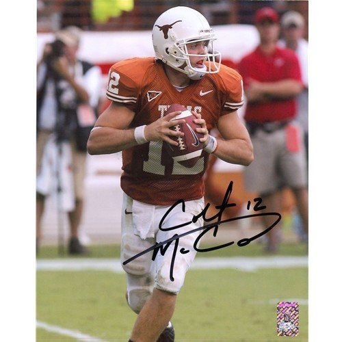 Colt McCoy Autographed Signed Texas Longhorns 8X10 Photo - McCoy Holo