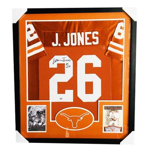 Colt McCoy Autographed Signed Texas Longhorns Premium Framed Orange Jersey - PSA/DNA Authentic