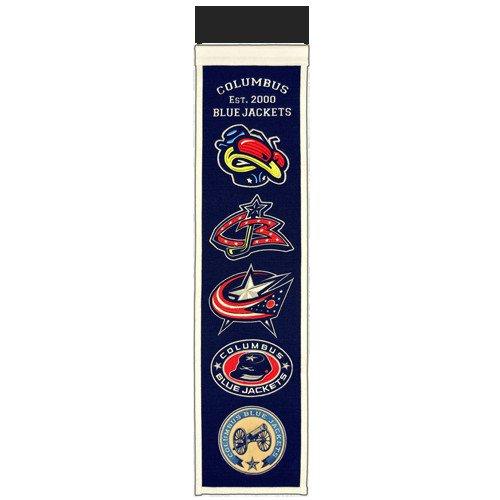 Columbus Blue Jackets Logo Evolution Heritage Banner