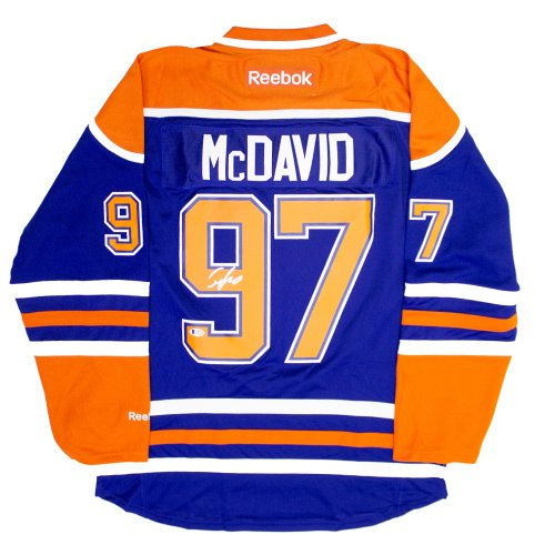 Connor McDavid Autographed Signed Edmonton Oilers Reebok Hockey Jersey - Beckett Authentic