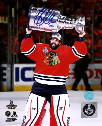 ff3ed160c Corey Crawford Chicago Blackhawks Autographed Signed 2015 Stanley Cup 8x10  Photo - Certified Authentic Signature - Certified Authentic