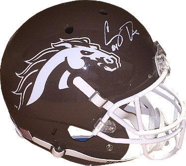 Corey Davis Autographed Signed Western Michigan Broncos Schutt Full Size Brown Replica Helmet #84- JSA Hologram