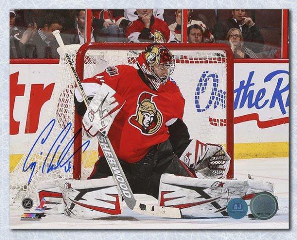 Craig Anderson Ottawa Senators Autographed Signed Butterfly Save 8x10 Photo