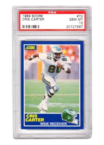Cris Carter (Philadelphia Eagles) 1989 Score Football #72 RC Rookie Card - PSA 10 GEM MINT