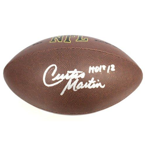 Curtis Martin New York Jets Autographed Signed Wilson NFL Super Grip  Football - HOF Inscription - 44adad660