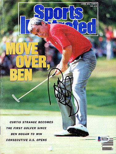 Curtis Strange Autographed Signed Sports Illustrated Magazine - Beckett Certified
