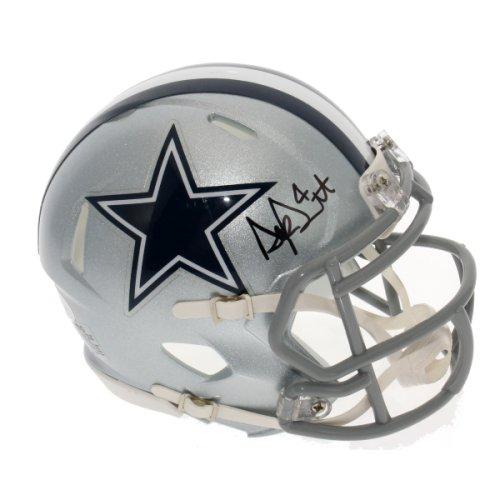 30fa3438e Dak Prescott Autographed Signed Dallas Cowboys Speed Mini Helmet - JSA  Certified Authentic