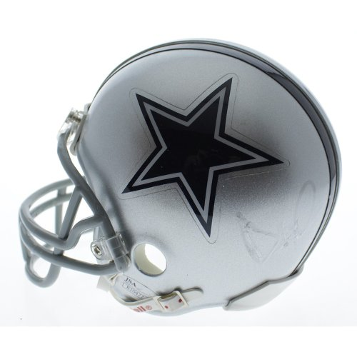 d5ceafc0143 Dak Prescott Dallas Cowboys Autographed Riddell Mini Helmet Signed In  Silver - JSA Authentic
