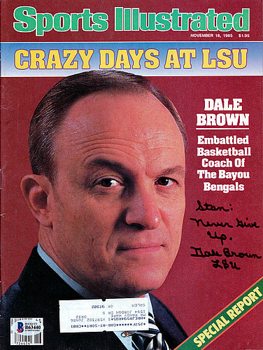 Dale Brown Autographed Signed Sports Illustrated Magazine