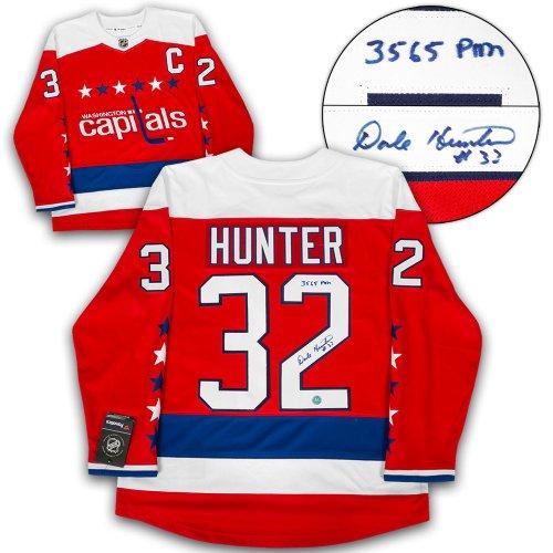 a75c39487a2 Dale Hunter Washington Capitals Autographed Signed Retro Alt Fanatics  Hockey Jersey