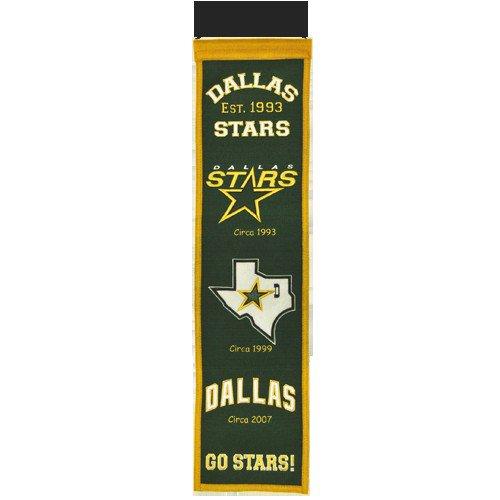 Dallas Stars Logo Evolution Heritage Banner