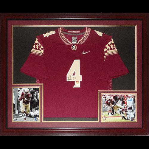 7d5ec9b433c Dalvin Cook Autographed Signed Auto Florida State FSU Seminoles Garnet  4  Nike Deluxe Framed Jersey   JSA Witness