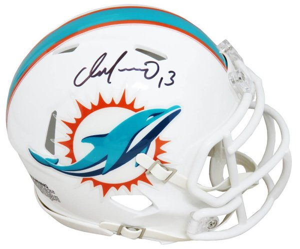 Dan Marino Signed Miami Dolphins Riddell Speed Mini Helmet