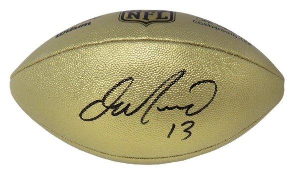 Dan Marino Signed Wilson Duke Gold Metallic NFL Full Size Replica Football