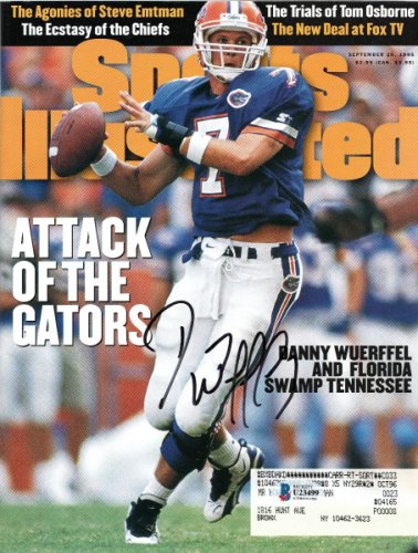 Danny Wuerffel Autographed Signed Florida Gators Sports Illustrated 9/25/95 Beckett Authenticated