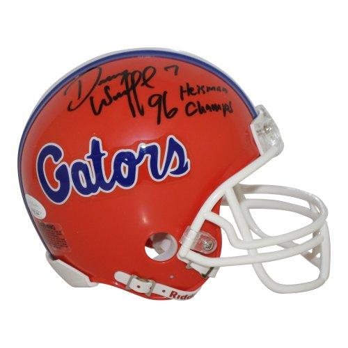 Danny Wuerffel Florida Gators Autographed Signed Riddell Mini Helmet w/ 96 Heisman/Champs Inscription - JSA Authentic