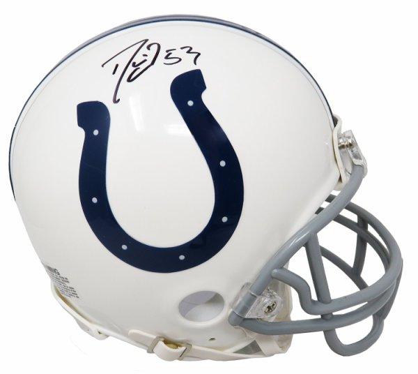 Darius Leonard Autographed Signed Indianapolis Colts Riddell Mini Helmet