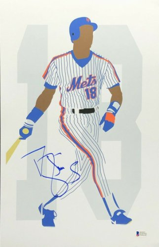 Darryl Strawberry Autographed/Signed New York Mets 8x10 Photo BAS ...