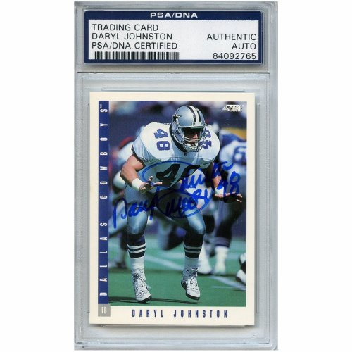 37e616e4f Daryl Johnston Autographed Signed Football Trading Card Dallas Cowboys  PSA/DNA #84092765