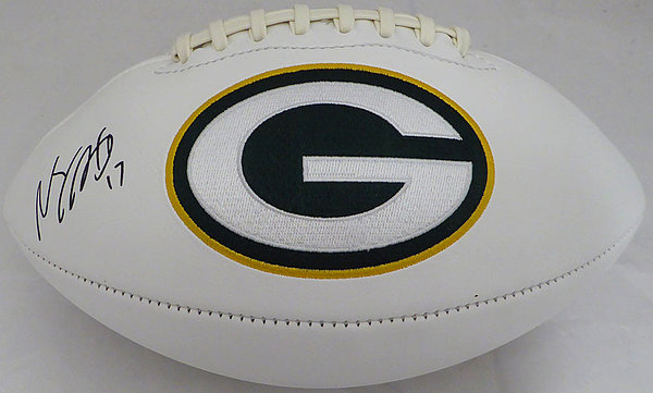 e8a8af738bd Davante Adams Autographed Signed Auto Green Bay Packers White Logo Football  - Beckett Certified