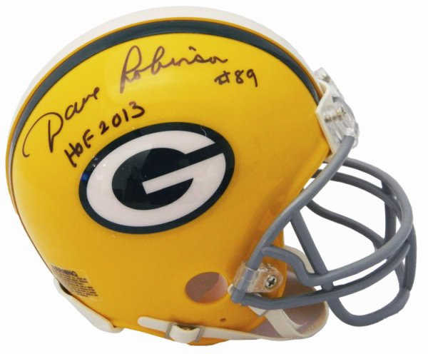 Dave Robinson Autographed Signed Green Bay Packers Throwback Riddell Mini Helmet w/HOF 2013