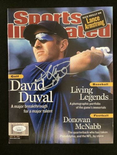 David Duval Autographed Signed Sports Illustrated 7/30/01 No Label Masters Golf Auto JSA