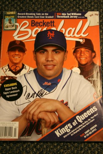 David Wright Carlos Beltran Autographed Signed Beckett