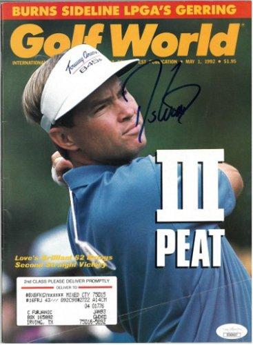 Davis Love, III Autographed Signed Golf World Full Magazine crease 5/1/1992- JSA #EE63437