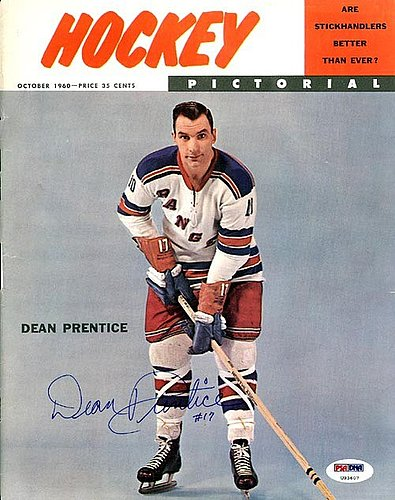 Dean Prentice Autographed Signed Magazine Cover Rangers - PSA/DNA Certified