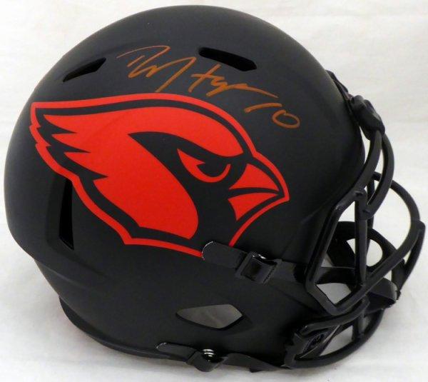 DeAndre Hopkins Autographed Signed Arizona Cardinals Eclipse Black Full Size Replica Speed Helmet Beckett BAS