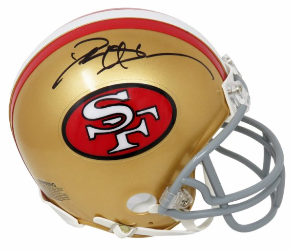 Deion Sanders Autographed Signed San Francisco 49ers Throwback Riddell Mini Helmet