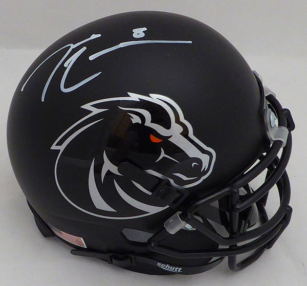 Demarcus Lawrence Autographed Signed Auto Boise State Broncos Matte Black Mini Helmet - Beckett Certified