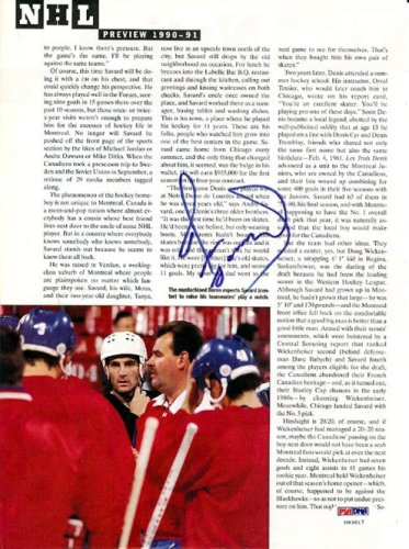 Denis Savard Autographed Signed Magazine Page Photo Canadiens - PSA/DNA Certified