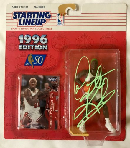 Dennis Rodman Autographed Signed Starting Lineup Figure NBA Chicago Bulls JSA NBA 50 1996 #1