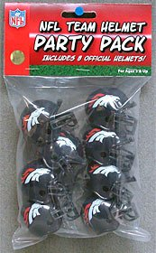Denver Broncos Gumball Party Pack Helmets