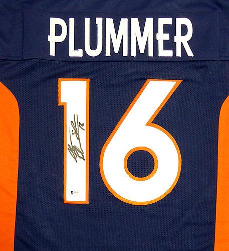 Denver Broncos Jake Plummer Autographed Signed Blue Jersey Beckett BAS Stock #114989