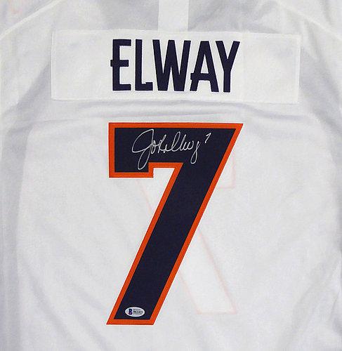 quality design d6c27 864df John Elway Signed Denver Broncos White Nike Limited Jersey ...