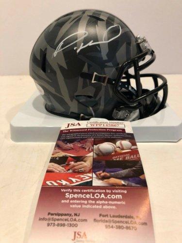 Denzel Ward Autographed Signed Signed Ohio State Buckeyes Camo Mini Helmet JSA COA