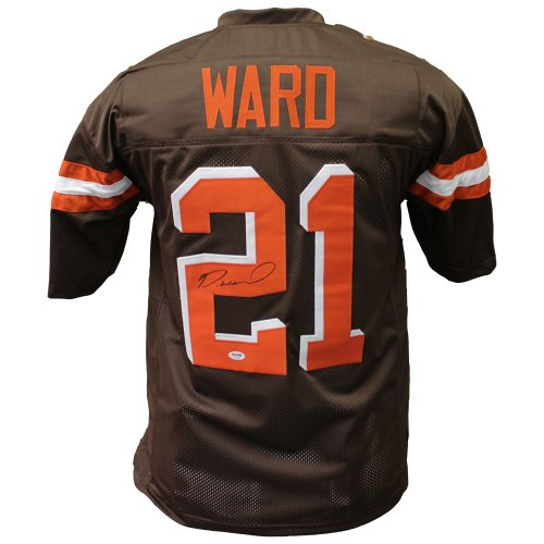 new concept 58f52 e9145 Denzel Ward Cleveland Browns Autographed Signed Brown Jersey ...