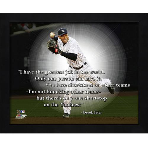 Derek Jeter New York Yankees (Horiz Throwing) Framed 11X14 Pro Quote