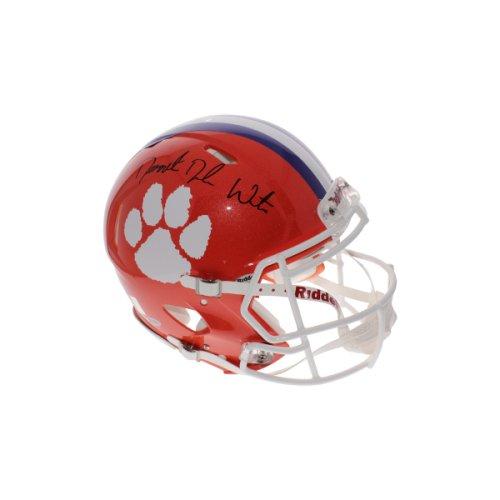 Derrick Deshaun Watson Full Name Signature Autographed Signed Clemson Tigers  Schutt Full Size Authentic Helmet - 627f415a1