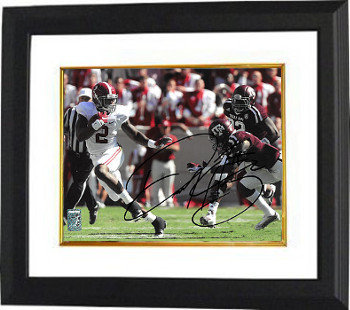 Derrick Henry Autographed Signed Alabama Crimson Tide 11X14 Photo Deluxe Custom Deluxe Framed #2 hand up Heisman pose- Henry Hologram - Certified Authentic