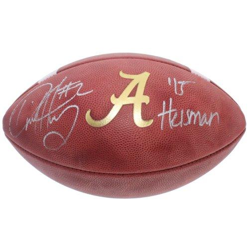 Derrick Henry Autographed Signed Alabama Crimson Tide Wilson NCAA Leather Gold A Football - 15 Heisman Inscription - Certified Authentic