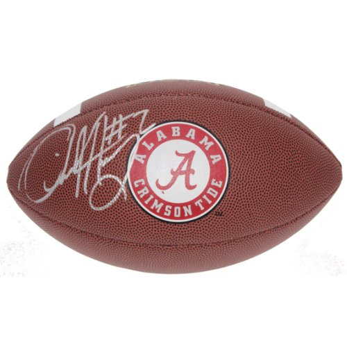 Derrick Henry Autographed Signed Alabama Crimson Tide Wilson NCAA Logo Football - Certified Authentic